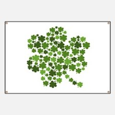 Shamrocks in a Shamrock Banner