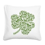 skullwhitefade.png Square Canvas Pillow