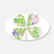 Cute Irish girl Oval Car Magnet