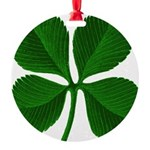clover2.png Round Ornament