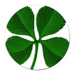 clover2.png Round Car Magnet