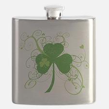 St Paddys Day Fancy Shamrock Flask