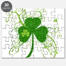 St Paddys Day Fancy Shamrock Puzzle