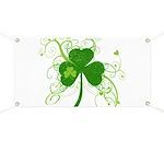 St Paddys Day Fancy Shamrock Banner