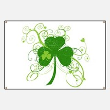 St Paddys Day Fancy Shamrock Banner