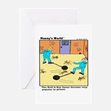 Roll A Rat Prison Game Greeting Cards