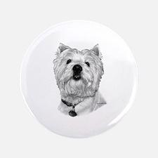 """West Highland White Terrier 3.5"""" Button"""
