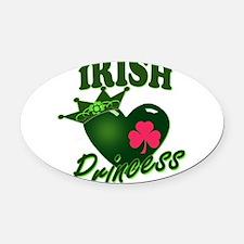 IrishPrincessgreenp.png Oval Car Magnet