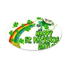 RAINBOW4.png Oval Car Magnet