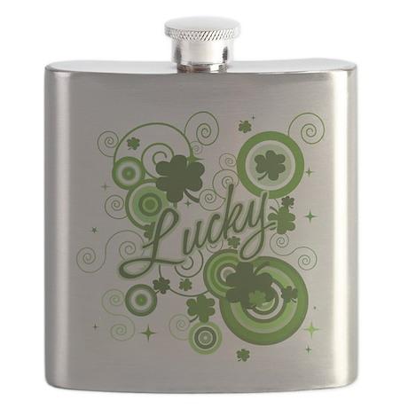 Lucky St Patricks Day Flask