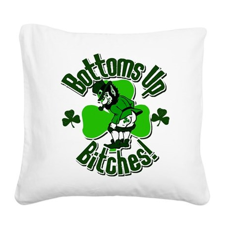 bottomsup.png Square Canvas Pillow