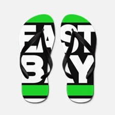 east bay green Flip Flops