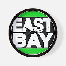 east bay green Wall Clock