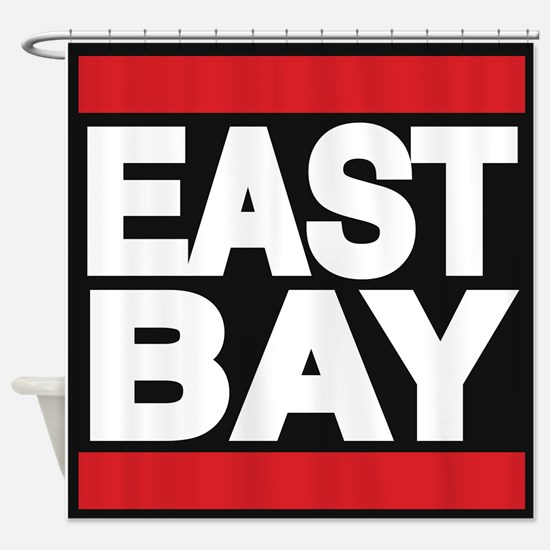 east bay red Shower Curtain