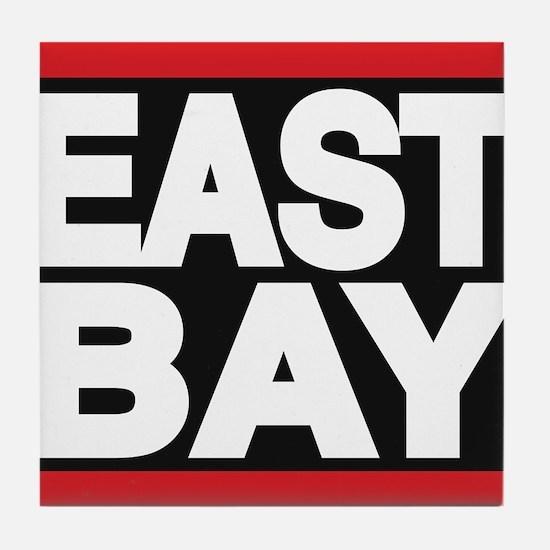 east bay red Tile Coaster