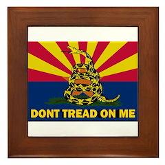 Arizona Dont Tread On Me Framed Tile