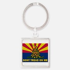 Arizona Dont Tread On Me Square Keychain