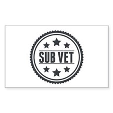 Sub Vet Badge Decal