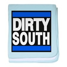 dirty south blue baby blanket