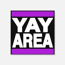 yay area purple Sticker