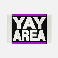yay area purple Rectangle Magnet
