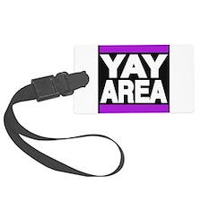 yay area purple Luggage Tag