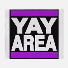 yay area purple Throw Blanket