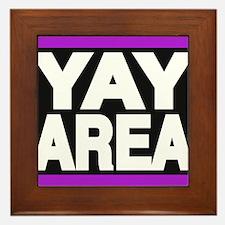 yay area purple Framed Tile