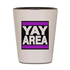 yay area purple Shot Glass