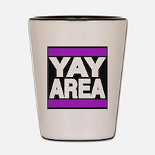 yay area purple Shot Glass