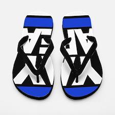 yay area blue Flip Flops