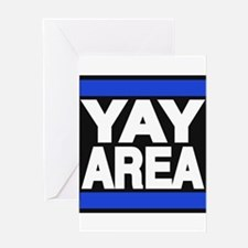 yay area blue Greeting Card