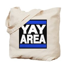 yay area blue Tote Bag