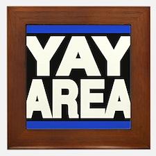 yay area blue Framed Tile