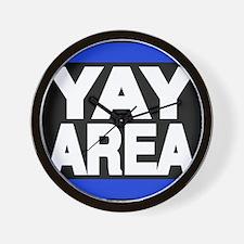 yay area blue Wall Clock