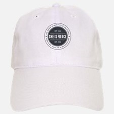 She is Fierce Badge Baseball Baseball Cap