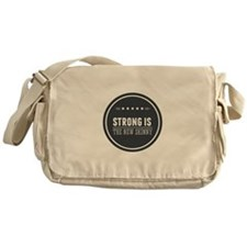 Strong is the New Skinny Badge Messenger Bag