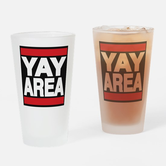 yay area red Drinking Glass