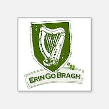 """Erin Go Braugh (Harp 2) Square Sticker 3"""" x 3"""""""