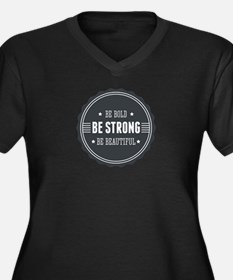Bold, Strong, Beautiful Badge Women's Plus Size V-