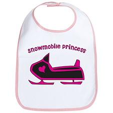 Snowmobile Princess Bib