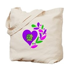 Turtle Heart Tote Bag