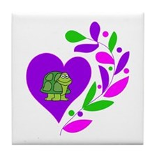 Turtle Heart Tile Coaster