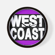 west coast purple Wall Clock
