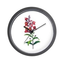 Antirrhinum or Snapdragons by Redoute Wall Clock
