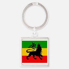 Lion of Judah Square Keychain