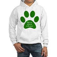 dogs are miracles green Hoodie