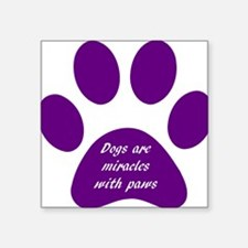 purple dogs are miracles Sticker