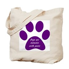 purple dogs are miracles Tote Bag