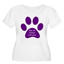 purple dogs are miracles Plus Size T-Shirt